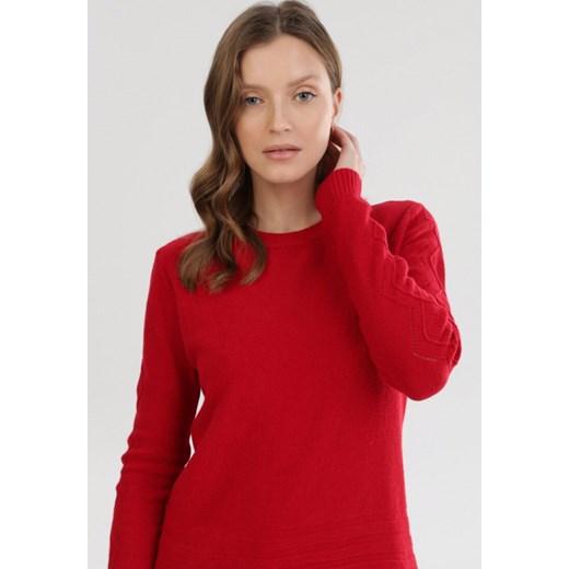Sweter damski Born2be casual Odzież Damska VU czerwony OETR