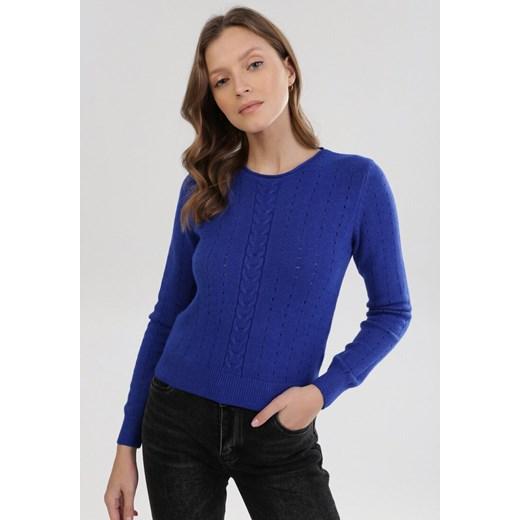 Sweter damski Born2be Odzież Damska KA niebieski HHYK