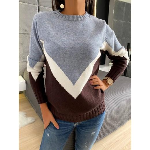 Modnakiecka sweter damski Odzież Damska II wielokolorowy HAWQ