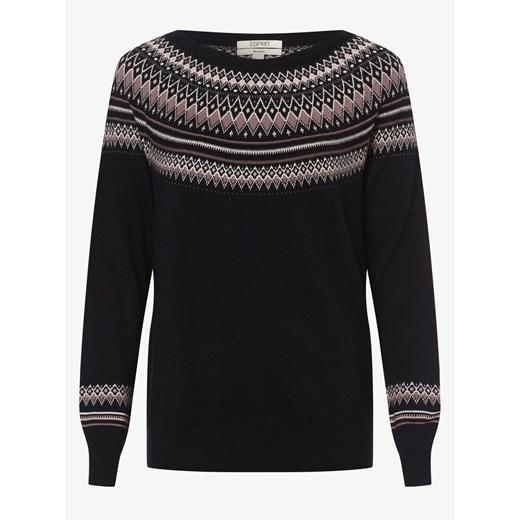 Sweter damski Esprit z okrągłym dekoltem Odzież Damska YE czarny TFNM