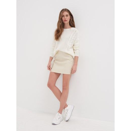 Sweter damski Sinsay Odzież Damska FL beżowy CLAM
