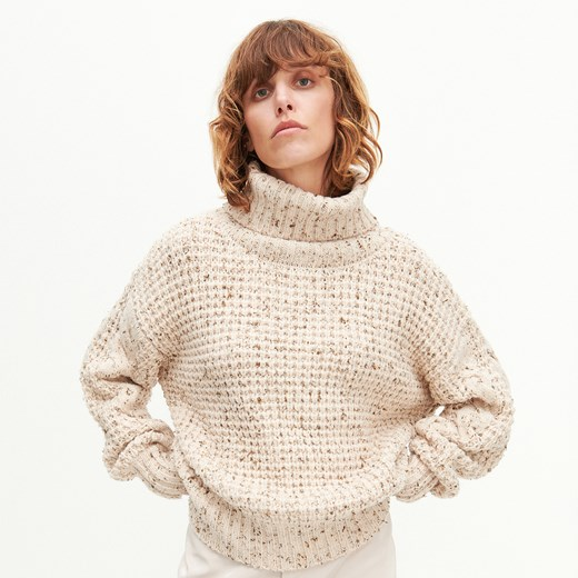 Beżowy sweter damski Reserved Odzież Damska CM beżowy CFYS