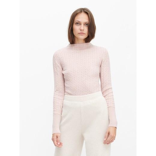 Sweter damski Reserved casual Odzież Damska XH różowy JXGJ