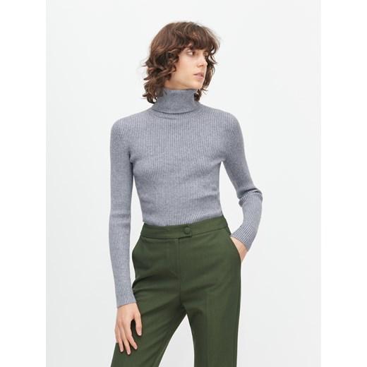 Szary sweter damski Reserved bez wzorów Odzież Damska KC szary LGGK