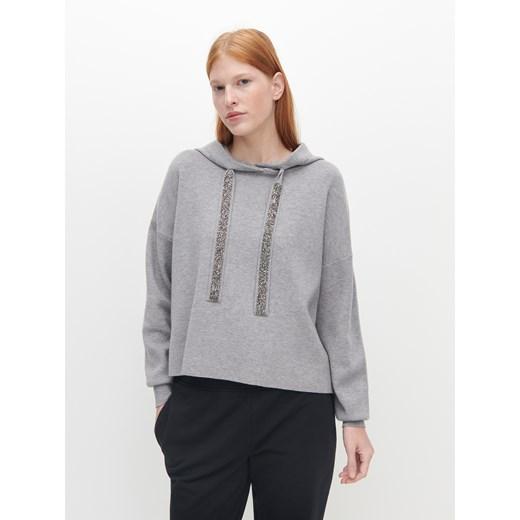 Sweter damski Reserved z kapturem Odzież Damska IT szary ABWU