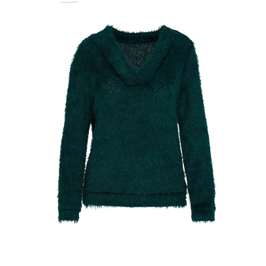 Sweter damski Lavard z dzianiny Odzież Damska ZR zielony DRKX