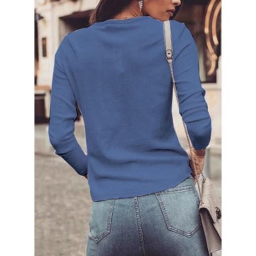 Sweter damski Sandbella Odzież Damska LR niebieski YLYC