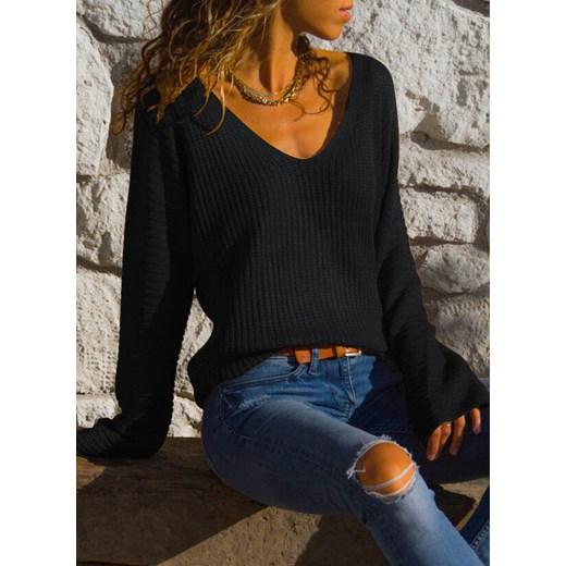 Sweter damski Sandbella Odzież Damska GL czarny YKIA
