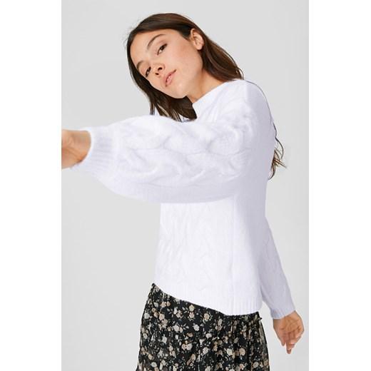 Sweter damski Clockhouse casual Odzież Damska PQ beżowy UPWB