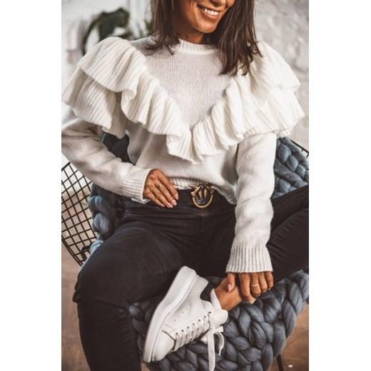 Sweter damski biały Latika Odzież Damska YL QQJV