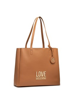 Shopper bag Love Moschino brązowa bez dodatków