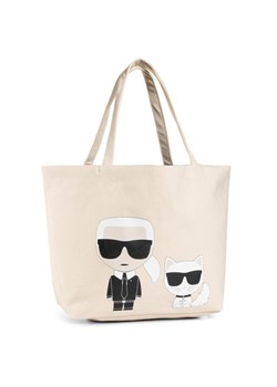 Karl Lagerfeld shopper bag beżowa