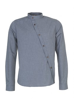 Koszula Stand-up Chambray