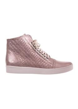 Sneakersy WOJAS 6672 70 35 Czarny Lak.Welur szary eobuwie