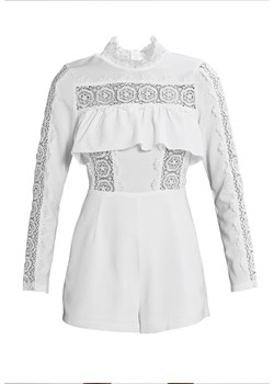 Missguided LACE INSERT FRILL Kombinezon white