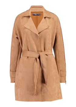 Missguided BONDED ZIP DETAIL Prochowiec tan