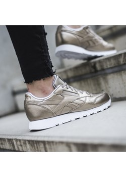 Buty damskie sneakersy Reebok Classic Leather Melted Metal BS7898 - ZŁOTY