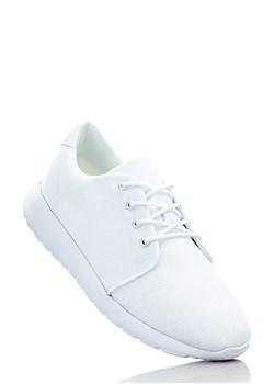 Białe buty sportowe damskie bonprix, wyprzedaże, zima 2020 w