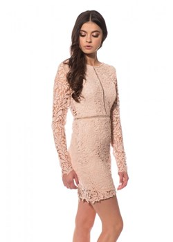 Sukienka Girl In Mind Chloe Crochet Nude UK10/UE38/M nude