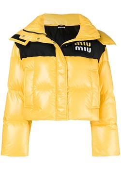 Miu Miu cropped puffer jacket - Yellow