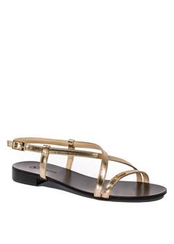 Sandały damskie Neścior bez wzorów z klamrą casualowe