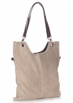 Shopper bag Genuine Leather zamszowa