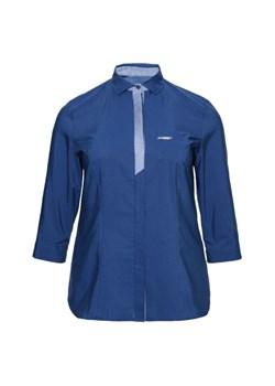 Niebieskie koszule damskie modne duże rozmiary, lato 2020 w