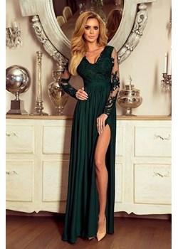 Sukienka Emo Sukienki balowe z koronką elegancka z długim rękawem karnawałowa