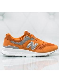 Buty sportowe męskie pomarańczowe New Balance sznurowane