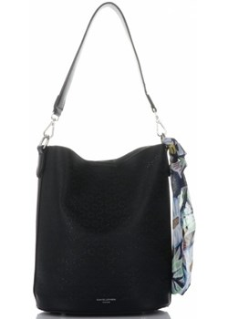 Shopper bag czarna David Jones matowa