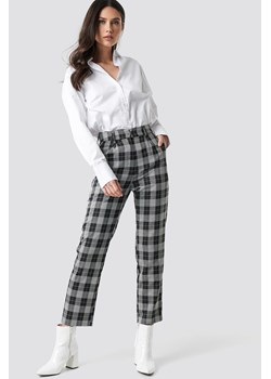 NA-KD Classic Checkered Straight Suit Pants - Multicolor