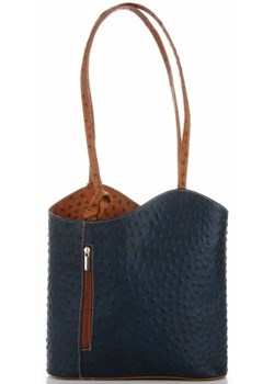 Shopper bag Genuine Leather elegancka duża czarna