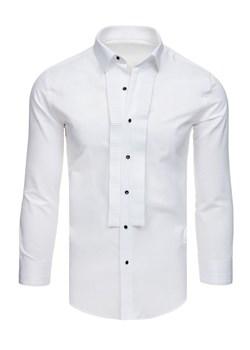 Koszula męska Dstreet z długim rękawem biała w Domodi  Su68B