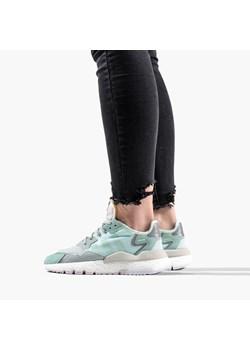 Miętowe buty sportowe damskie adidas originals, wiosna 2020