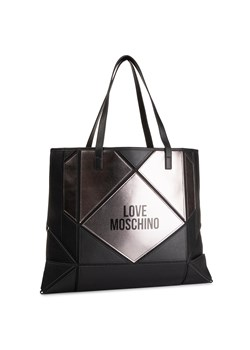 Shopper bag czarna Love Moschino na ramię