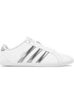 Trampki damskie Adidas z tworzywa sztucznego białe sportowe bez wzorów wiązane