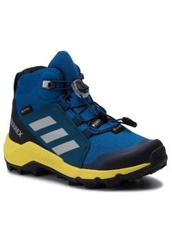 Buty trekkingowe dziecięce Adidas gore tex wiązane gładkie