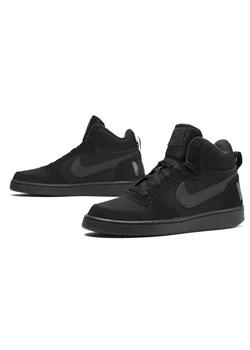 Buty sportowe damskie Nike do koszykówki czarne ze skóry płaskie sznurowane