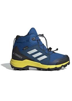 Niebieskie buty trekkingowe dziecięce Adidas sznurowane