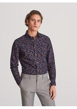 online here wholesale price buying cheap Koszula męska Reserved w kwiaty młodzieżowa z długim rękawem