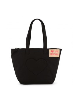 Czarna shopper bag Love Moschino na ramię