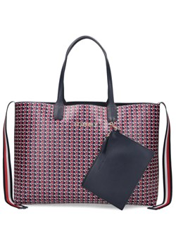 Shopper bag Tommy Hilfiger z nadrukiem