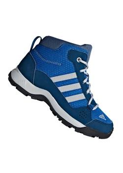 Buty trekkingowe dziecięce Adidas sznurowane zamszowe