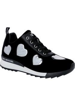 Moschino damskie czarne buty damskie sportowe sneakersy