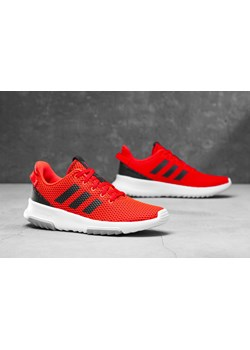 outlet na sprzedaż tanio na sprzedaż sprzedawane na całym świecie Buty sportowe damskie Adidas cloudfoam czerwone płaskie bez wzorów wiązane