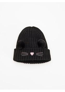 Czarna czapka dziecięca Reserved