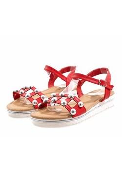Sandały damskie Butymodne ze skóry ekologicznej casual z klamrą płaskie