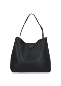 Shopper bag David Jones czarna matowa glamour