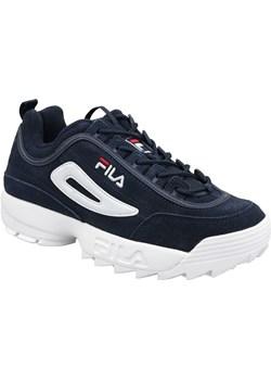 Granatowe buty sportowe męskie fila, wiosna 2020 w Domodi