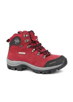 tanie jak barszcz w sprzedaży hurtowej Nowe Produkty Buty trekkingowe damskie czerwone Sprandi sportowe na płaskiej podeszwie ze  skóry na jesień bez wzorów